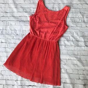 Topshop Pleated Mini Dress